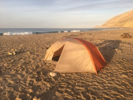 California Coast Beach camping